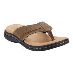 Men's Dockers Laguna Thong Sandal Dark Tan Synthetic