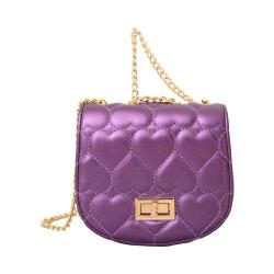 Women's Mellow World Amora Heart Clutch Metallic Purple