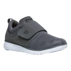 Men's Propet TravelFit Wide Strap Sneaker Grey Mesh