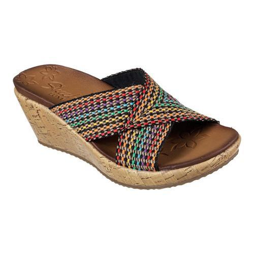 e3847c3f6f06 Shop Women s Skechers Beverlee Delighted Wedge Slide Multi - On Sale - Free  Shipping Today - Overstock - 14014592