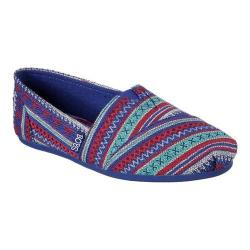 Women's Skechers BOBS Plush Lil Fox Alpargata Blue