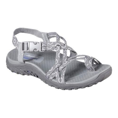 Shop Women s Skechers Reggae Happy Rainbow Sandal Gray - On Sale - Free  Shipping Today - Overstock - 14014637 6d2429560
