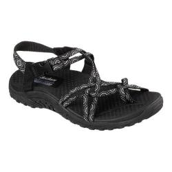 Women's Skechers Reggae Happy Rainbow Sandal Black