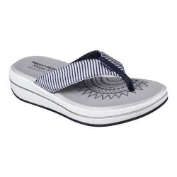 Women's Skechers Relaxed Fit Upgrades Sailin Thong Sandal Navy