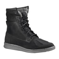 Men's UGG Roskoe Ankle Boot Black Leather/Suede
