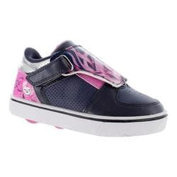 Children's Heelys Twister X2 Roller Shoe Navy/Pink/Silver