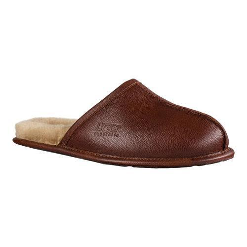 fc409c45457 Shop Men s UGG Scuff Scotch Grain Slipper Cognac Leather - Free Shipping  Today - Overstock - 14022699