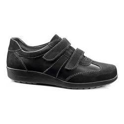 Women's ara Maes 46335 Sneaker Black Nubuck/Calf