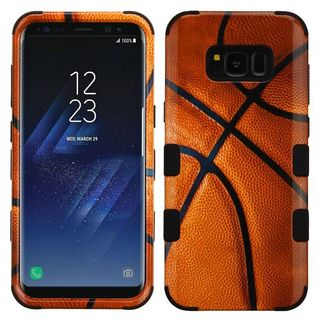 Insten Brown/ Black Basketball Tuff Hard Snap-on Dual Layer Hybrid Case Cover For Samsung Galaxy S8