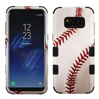 Insten White/ Red Baseball Tuff Hard Snap-on Dual Layer Hybrid Case Cover For Samsung Galaxy S8