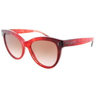 Valentino VA 4013 503313 Marble Red Gradient Black Plastic Cat-Eye Sunglasses Red Gradient Lens