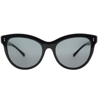 Valentino VA 4013 500187 Black Plastic Cat-Eye Sunglasses Smoke Lens