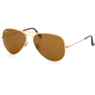 Ray-Ban Unisex RB 3025 Classic Aviator 001/33 Gold Metal Sunglasses
