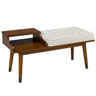 Brassex Accent Bench, Walnut