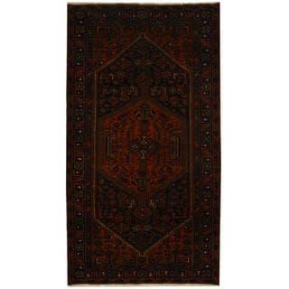 Handmade One-of-a-Kind Hamadan Wool Rug (Iran) - 5'1 x 9'4