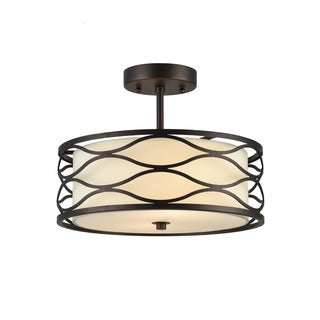 Chloe Gwen Collection 2-light Oil Rubbed Bronze Semi-Flush Mount