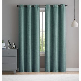 VCNY Home Salma Solid Check Blackout Panel Pair