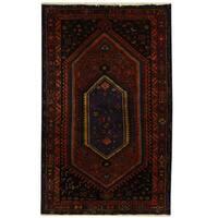 Handmade Herat Oriental Persian Tribal Hamadan Wool Rug (Iran) - 5' x 7'10