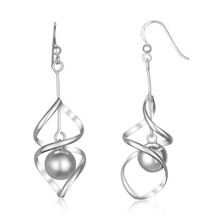 Pearlyta Sterling Silver Euro Wire Hook Twist Hanging Earring