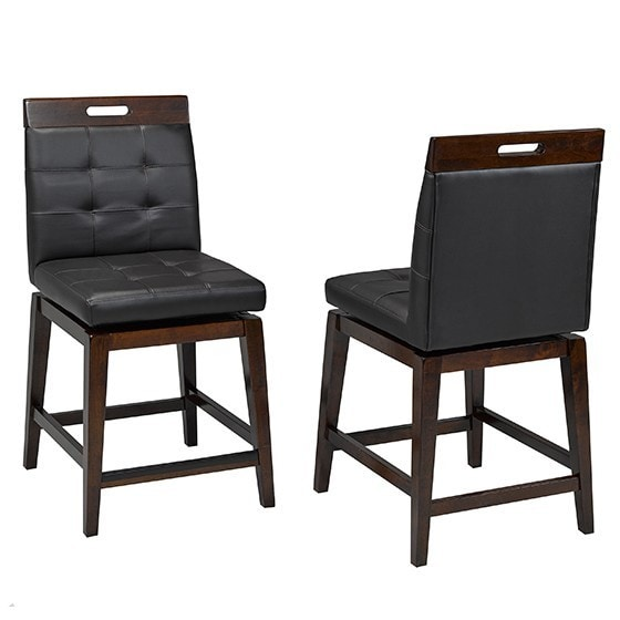 Shop Brassex 1605 24 Iris Black 24 Inch Swivel Bar Stool Set Of 2