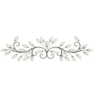 Stratton Home Décor Brushed Pearl Over The Door Wall Décor