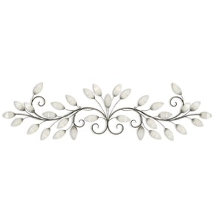 Link to Stratton Home Décor Brushed Pearl Over the door Wall Décor Similar Items in Wall Sculptures