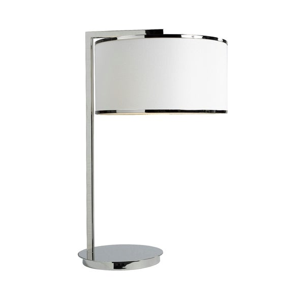 Brassex 16413 White Metal 26-inch Table Lamp