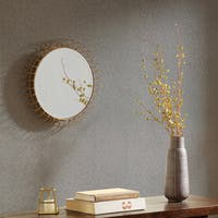 Madison Park Zoe Golden Iron Circle Mirror - Small - Gold