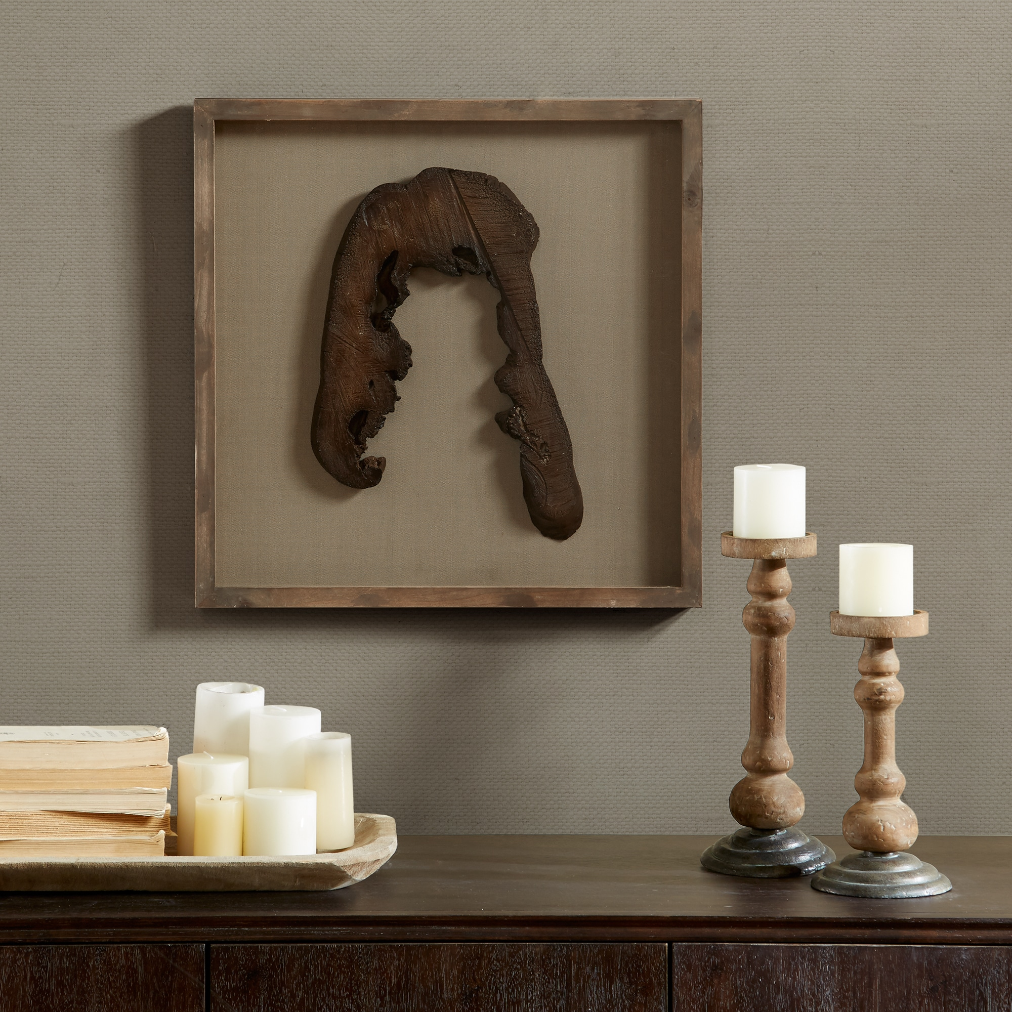 Madison Park Signature Grove Natural Faux Wood Decor - Po...