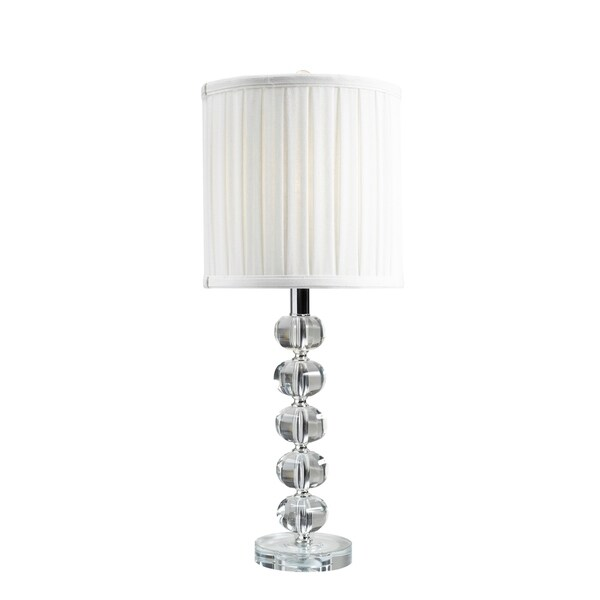 Brassex 16401 White Crystal 24-inch Table Lamp