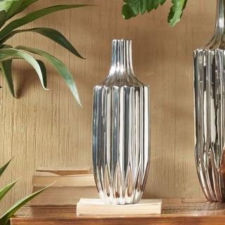 INK+IVY Bartlett Silver Ceramic Vase - Small