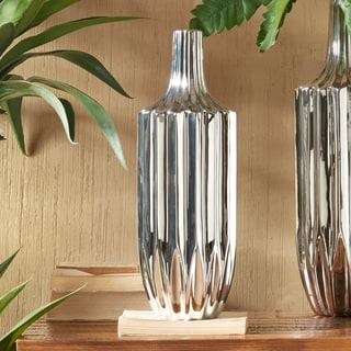 INK+IVY Bartlett Silver Ceramic Vase - Large