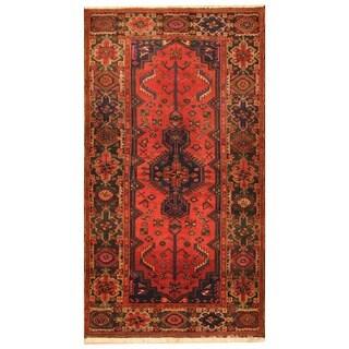 Handmade Herat Oriental Persian Tribal Hamadan Wool Rug - 4'5 x 8'1 (Iran)