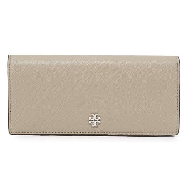 6f35446fa Shop Tory Burch Robinson French Grey Slim Wallet - Free Shipping ...