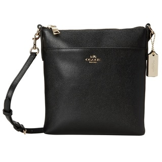 Coach Crossgrain Light Gold/Black Leather Courier Crossbody Handbag