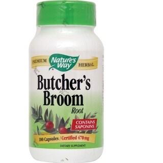 Nature's Way Butcher's Broom Root 470mg (100 Capsules)