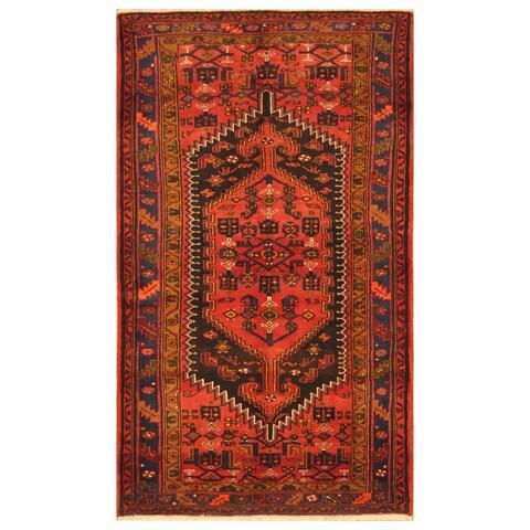 Handmade Herat Oriental Persian Tribal Hamadan Wool Rug - 4'9 x 8' (Iran)