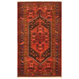 Herat Oriental Persian Hand-knotted Tribal Hamadan Wool Rug (4'9 x 8')
