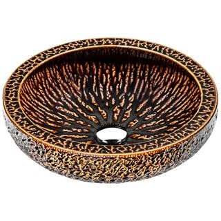 ANZZI Regalia Series Vessel Sink in Speckled Umber