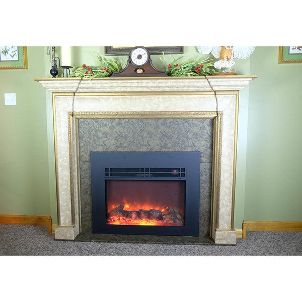 """AA Warehousing True Flame electric fireplace insert 26"""" with front surround"""