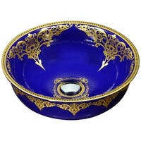 ANZZI Scepter Series Vessel Sink in Royal Blue
