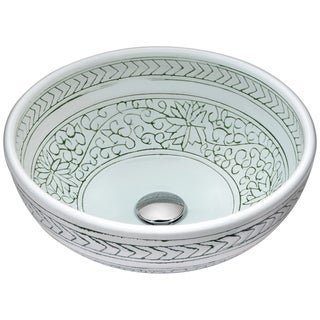 ANZZI Cadence Series Vessel Sink in Décor White