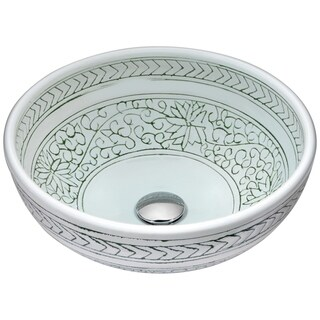 ANZZI Cadence Series Vessel Sink in Decor White