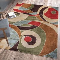 Ellie Modern Abstract Geometric Multi Area Rug - 5'3 x 7'3