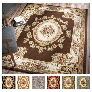 Well Woven Agra Traditional French Country Aubusson Floral Area Rug
