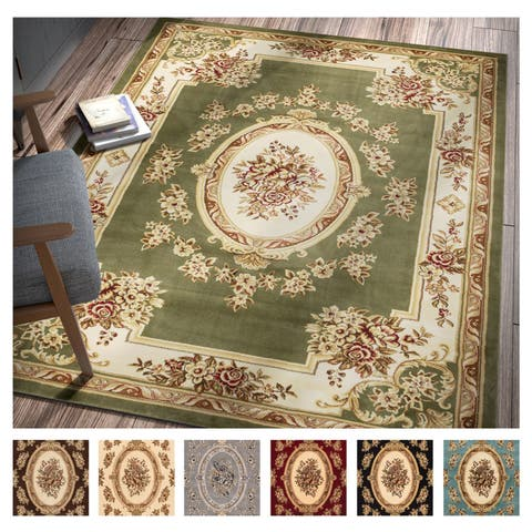 Well Woven Agra Traditional French Country Aubusson Floral Area Rug - 6' x 9'