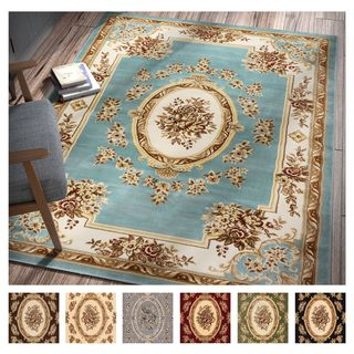Well Woven Agra Traditional French Country Aubusson Floral Mansion Area Rug - 11' x 15'