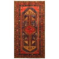 Handmade Herat Oriental Persian Tribal Hamadan Wool Rug - 4'5 x 8'2 (Iran)
