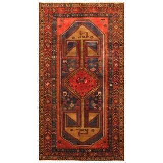 Handmade Herat Oriental Persian Tribal Hamadan Wool Rug (Iran) - 4'5 x 8'2