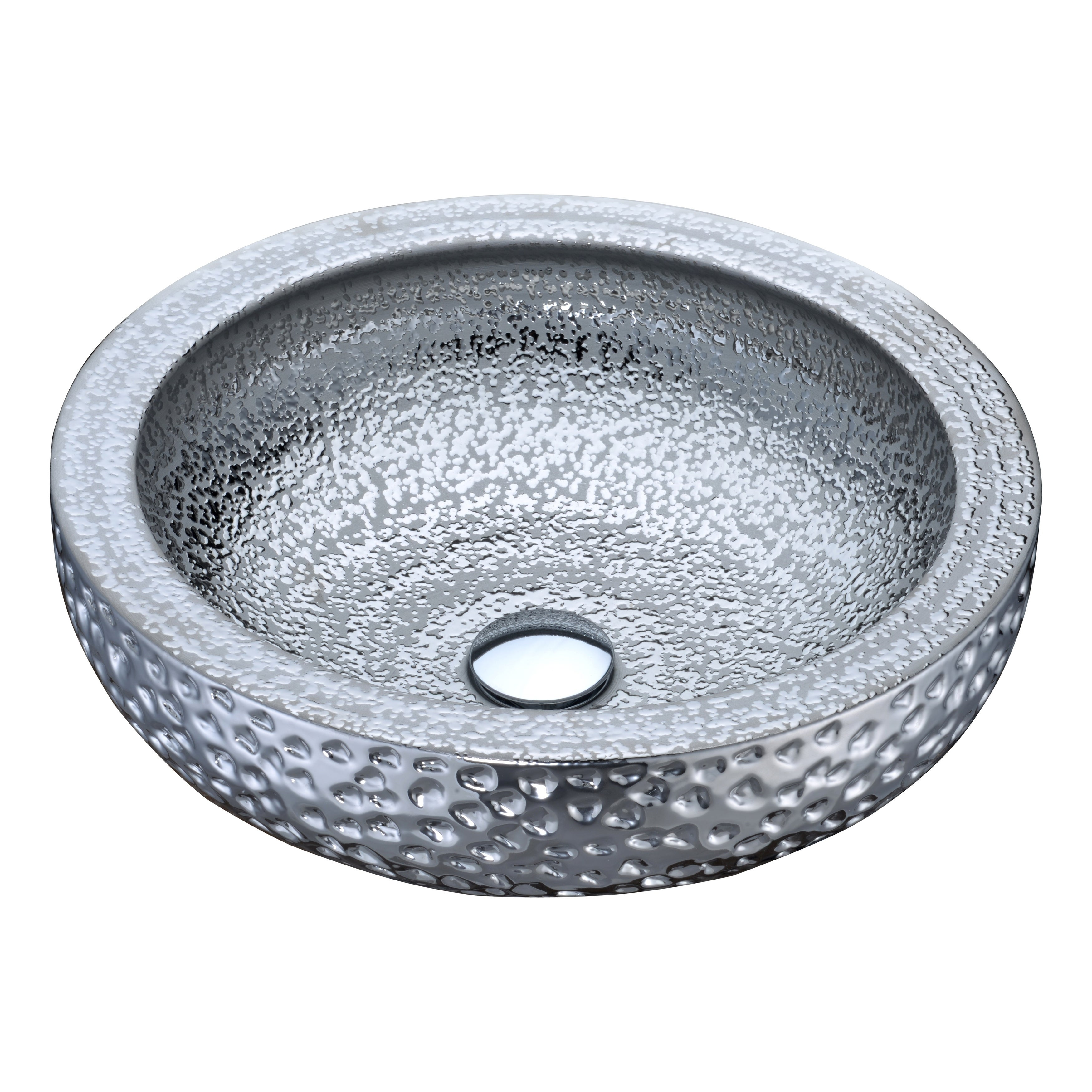 ANZZI Regalia Series Vessel Sink in Speckled Silver (Speckled Silver)